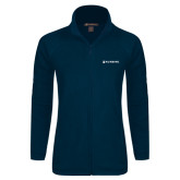 Ladies Fleece Full Zip Navy Jacket-Nursing