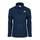 Columbia Ladies Full Zip Navy Fleece Jacket-Victory A