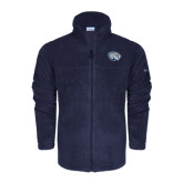 Columbia Full Zip Navy Fleece Jacket-Jaguar Head