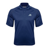 Navy Textured Saddle Shoulder Polo-Victory A