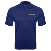 Navy Textured Saddle Shoulder Polo-College of Nursing