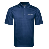 Navy Mini Stripe Polo-College of Nursing