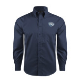 Red House Deep Blue Herringbone Long Sleeve Shirt-Jaguar Head