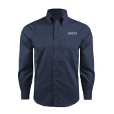 Red House Deep Blue Herringbone Long Sleeve Shirt-Augusta
