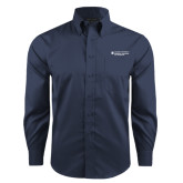 Red House Deep Blue Herringbone Long Sleeve Shirt-Dental College of Georgia