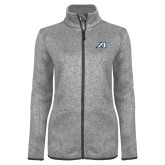 Grey Heather Ladies Fleece Jacket-Victory A