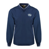 Navy Executive Windshirt-Jaguar Head