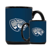 Full Color Black Mug 15oz-Jaguar Head