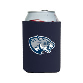 Collapsible Navy Can Holder-Jaguar Head