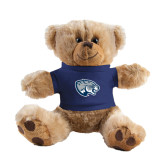 Plush Big Paw 8 1/2 inch Brown Bear w/Navy Shirt-Jaguar Head