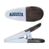 White Crocodile Clip/Magnet-Augusta