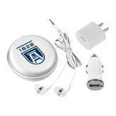 3 in 1 White Audio Travel Kit-University Mark 1828
