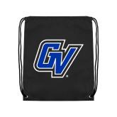 Black Drawstring Backpack-GV