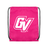 Pink Drawstring Backpack-GV