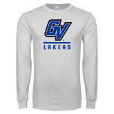 White Long Sleeve T Shirt-GV Lakers Stacked