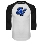 White/Black Raglan Baseball T Shirt-GV