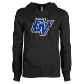 ENZA Ladies Black Fleece Full Zip Hoodie-GV