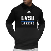 Adidas Black Team Issue Hoodie-GV Lakers Stacked