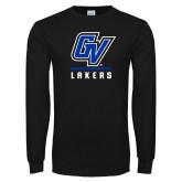 Black Long Sleeve T Shirt-GV Lakers Stacked
