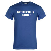 Royal T Shirt-Grand Valley State Wordmark Stacked