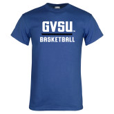 Royal T Shirt-GVSU Basketball