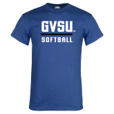 Royal T Shirt-GVSU Softball