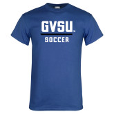 Royal T Shirt-GVSU Soccer
