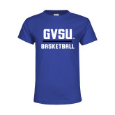 Youth Royal T Shirt-GVSU Basketball