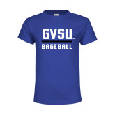 Youth Royal T Shirt-GVSU Baseball