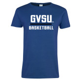 Ladies Royal T Shirt-GVSU Basketball