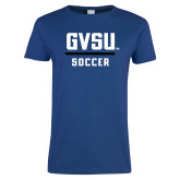 Ladies Royal T Shirt-GVSU Soccer