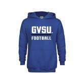 Youth Royal Fleece Hoodie-GVSU Football