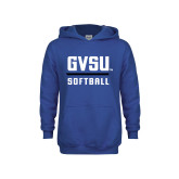 Youth Royal Fleece Hoodie-GVSU Softball