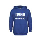 Youth Royal Fleece Hoodie-GVSU Volleyball