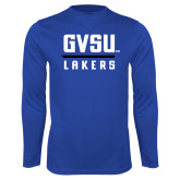 Performance Royal Longsleeve Shirt-GVSU Lakers Stacked