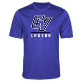 Performance Royal Heather Contender Tee-GV Lakers Stacked