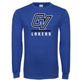 Royal Long Sleeve T Shirt-GV Lakers Stacked