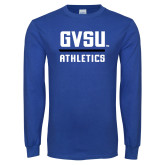 Royal Long Sleeve T Shirt-GVSU Athletics