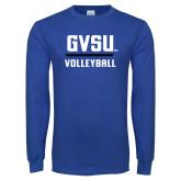 Royal Long Sleeve T Shirt-GVSU Volleyball
