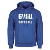 Royal Fleece Hoodie-GVSU Softball