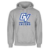 Grey Fleece Hoodie-GV Lakers Stacked