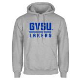 Grey Fleece Hoodie-GVSU Lakers Stacked