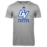 Adidas Climalite Sport Grey Ultimate Performance Tee-GV Lakers Stacked