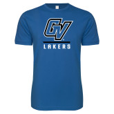 Next Level SoftStyle Royal T Shirt-GV Lakers Stacked