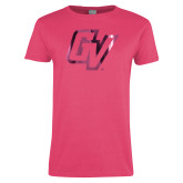 Ladies Fuchsia T Shirt-GV Foil