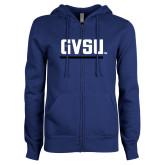 ENZA Ladies Royal Fleece Full Zip Hoodie-GVSU