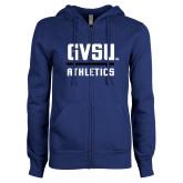 ENZA Ladies Royal Fleece Full Zip Hoodie-GVSU Athletics
