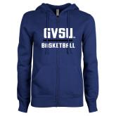 ENZA Ladies Royal Fleece Full Zip Hoodie-GVSU Basketball