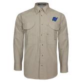 Khaki Long Sleeve Performance Fishing Shirt-GV