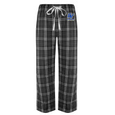 Black/Grey Flannel Pajama Pant-GV Lakers Stacked